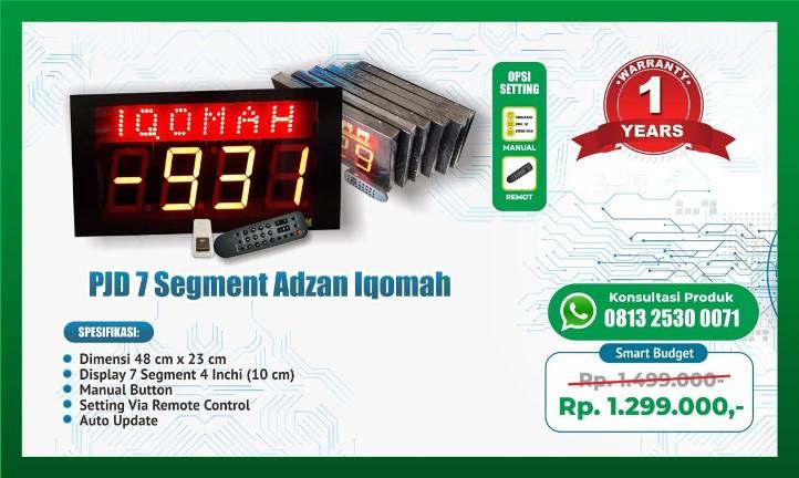 Jam LED Adzan Iqomah 7 Segment