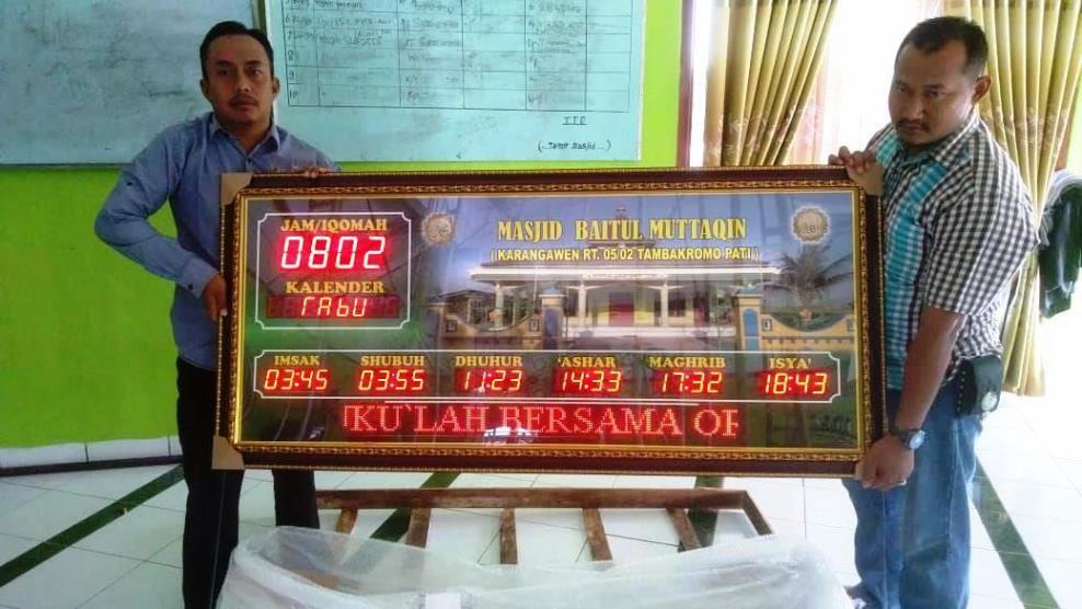 Pabrik Jam Sholat Digital Masjid