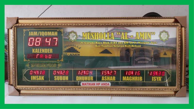 Led 7 Segment Digital Masjid untuk Musholla Kampung