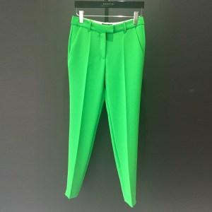 pantalon pitillo capri verde