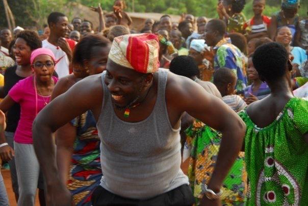 Kwame Demonstrating a Dance Move