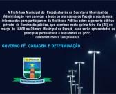 Prefeitura de Pacajá realiza Audiência Pública para tratar da parceria público privado de Iluminação Pública do Município no dia 28 de março