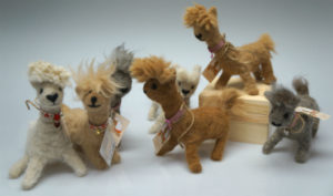 This needle felted herd looks like a miniature version of our herd on the farm!