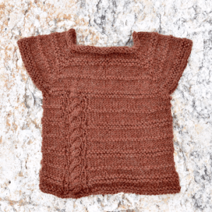 Cables and Purls Baby Sweater