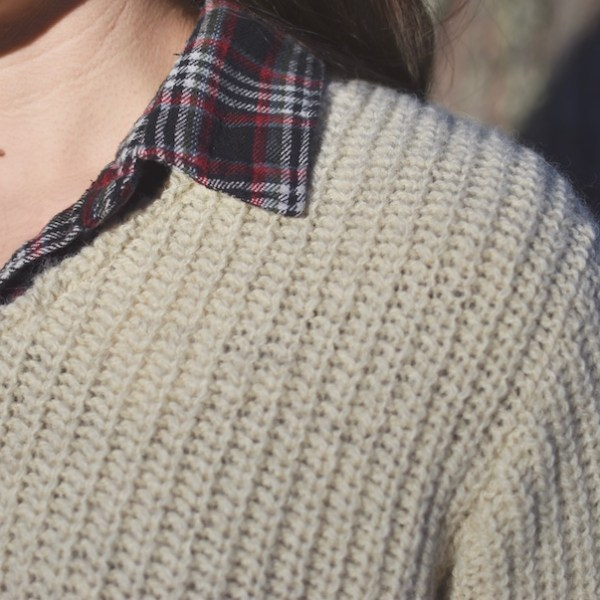 Rugged Abbott Farm Alpaca Sweater V-neck