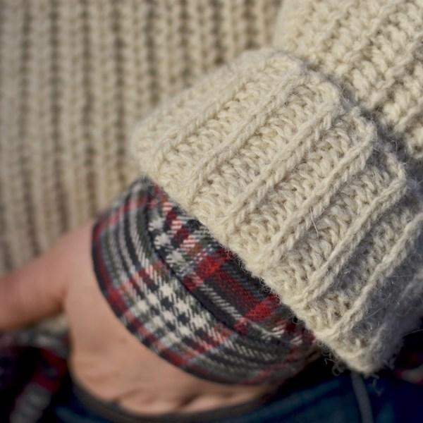Rugged Abbott Farm Alpaca Sweater Sleeve Detail