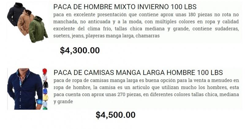 Pacas De Ropa Americana Nueva Premium