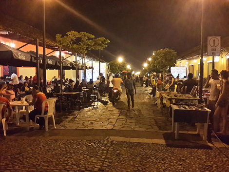 Vibrant Nightlife in Calzada