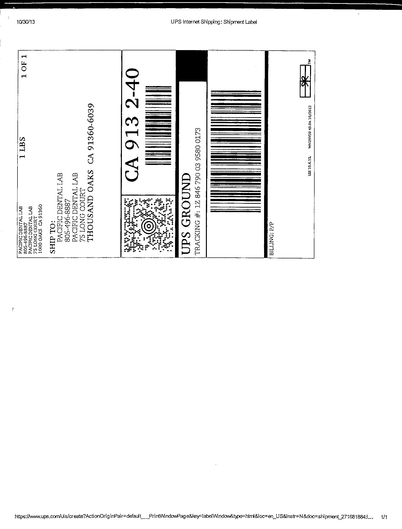 Ups Shipping Label Pacific Dental Lab