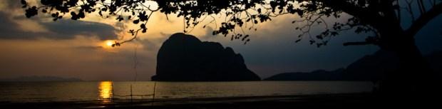 Sunset view from Pak Meng Beach