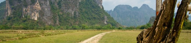Farming field in Vang Vieng