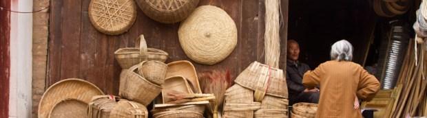 Basket shop in Qinan