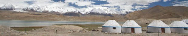 Karakol lake on the Karakorum highway