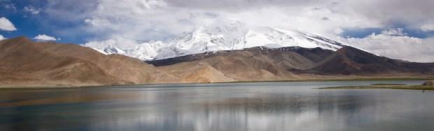 Karakol lake on the Karakorum highway