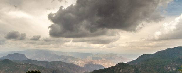 Dark clouds over the Sierra Madre Occidental