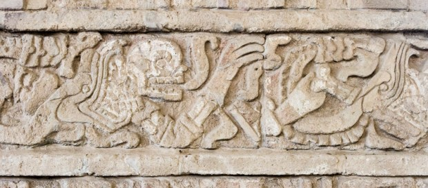 Olmec iconography sculpture in Tula de Allende