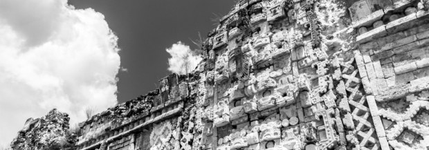 Mayan sculptures of Chaac in Uxmal