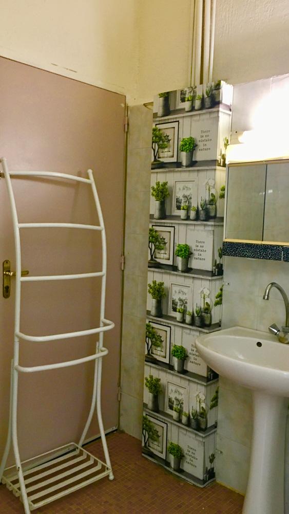 salle de bain de la grande chambre de la résidence étudiante de la prépa médecine paces+ Nice