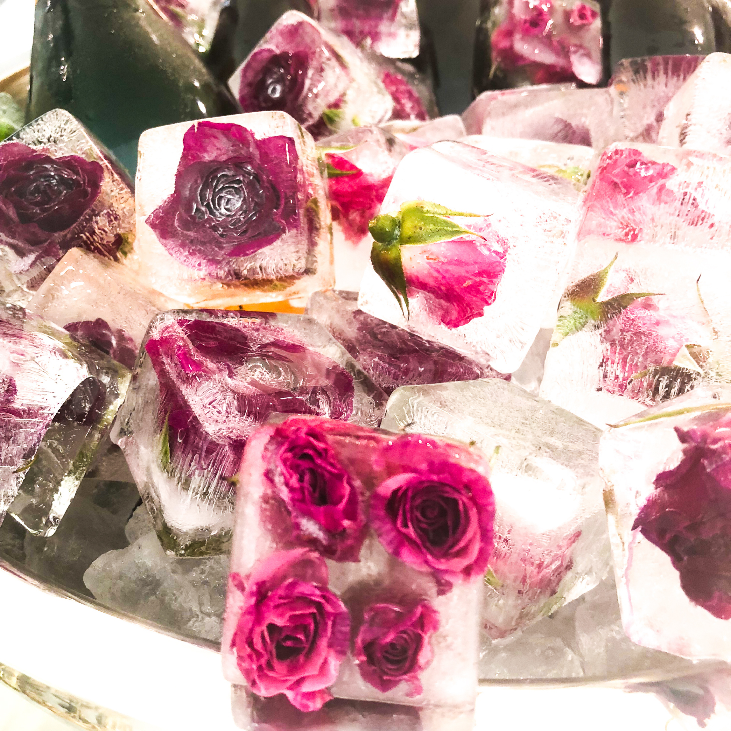 floral ice cubes tutorial