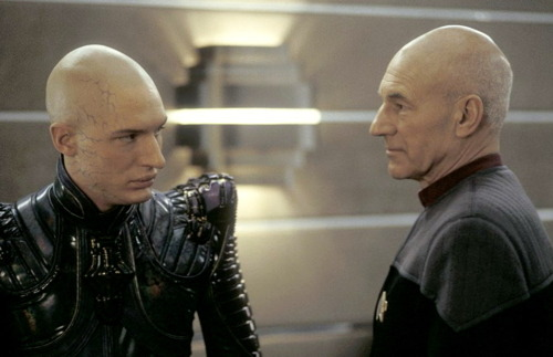 Captain Picard and Praetor Shinzon, Star Trek Nemesis, Paramount Pictures 2002
