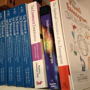 enneagram books on my shelf