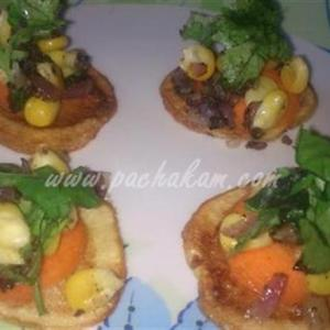 Potato Chips With Corn Dressing (Step By Step Phot