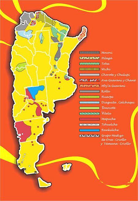 Plan de la distribution Mapuches