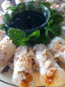 ....one more look... at the fabulous peach and almond with coconut rice dessert spring rolls
