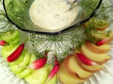 Lovely herb dip and vegetables