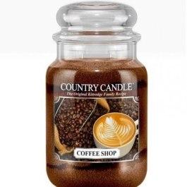 Country Candle COFFE SHOP Duża Świeca Zapachowa 652g