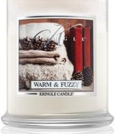 KRINGLE CANDLE Warm & Fuzzy ŚREDNIA ŚWIECA 411G