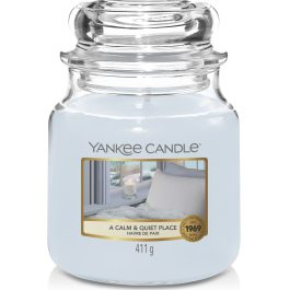 Yankee Candle A CALM AND QUIET PLACE Średnia Świeca Zapachowa 411g
