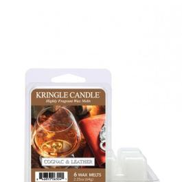 Kringle Candle  Cognac and Leather – Wosk zapachowy 64g