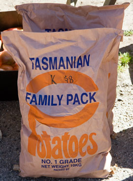 How Tasmanians buy potatoes.
