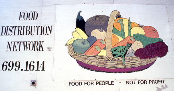 Sydney's Food Distribution Network was a service providing home deliveries of fresh food to people who, though disability, had difficulty shopping for themselves.