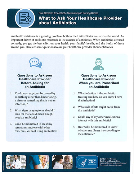 Ask Your healthcare provider about antibiotics