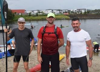 Shaun Sewell, Chris Mason, Stuart Thomson from Far North Coast Canoe Club