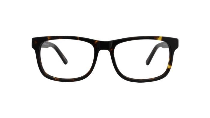 Geek Black square glasses