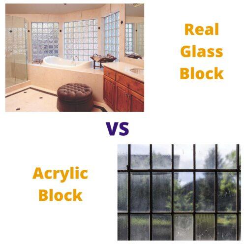 Real Glass Block vs Acrylic Block