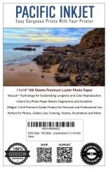 Pacific Inkjet 11x14 Premium Luster Inkjet Paper
