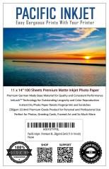 "Pacific Inkjet 11x14"" Premium Matte Inkjet Paper"