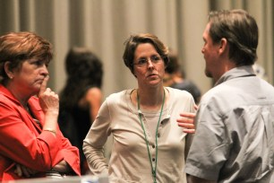 Dr. Nancy Lewis speaks with participants from the National Oceanic and Atmospheric Administration (NOAA).