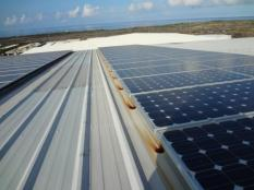 Figure 18: You can see the exact area of drip from the PV panels. The VOG had accumulated on then came off with rain.