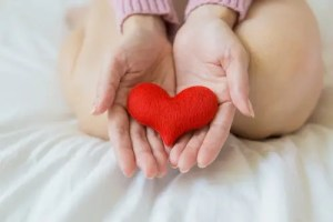 heart and cardiovascular system in hands with lower cholesterol