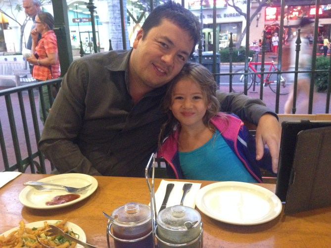 Miss 8 and her Daddy