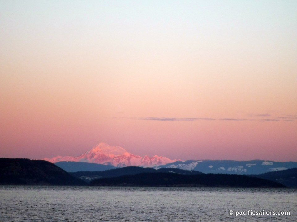 Mount Baker from San Juan Islands Washington
