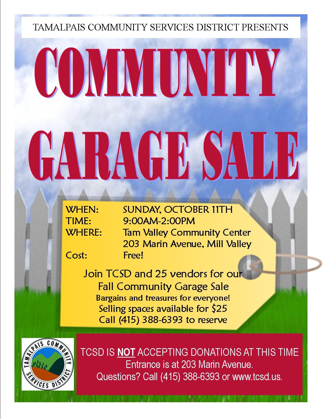 Fall Community Garage Sale Flyer Final Pacific Sun Marin County