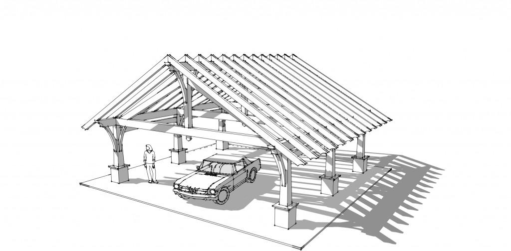 Timber frame carport designs