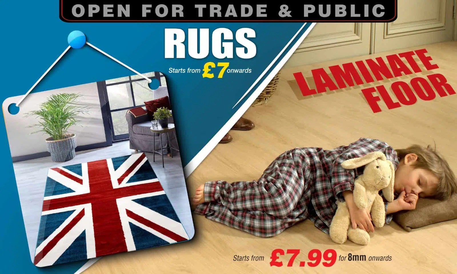 Rugs for £7.99