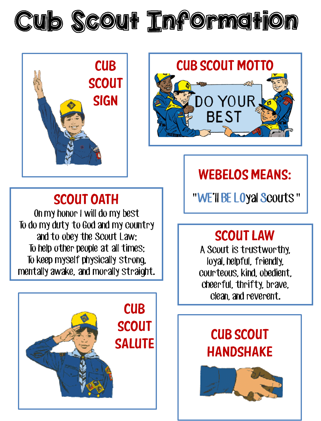 It's just a photo of Astounding Cub Scout Printables